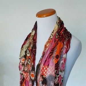 Nordstrom Silk Colorful Scarf